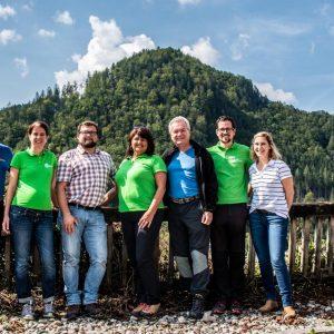 Das Natur- und Geopark Team mit Anton Lang
